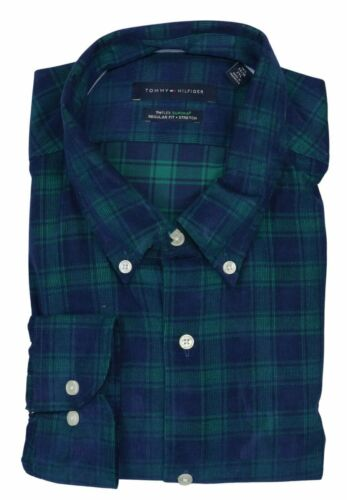 Details about  /Tommy Hilfiger TH Flex Regular Fit Stretch Long Sleeve Button Down Shirt NWT