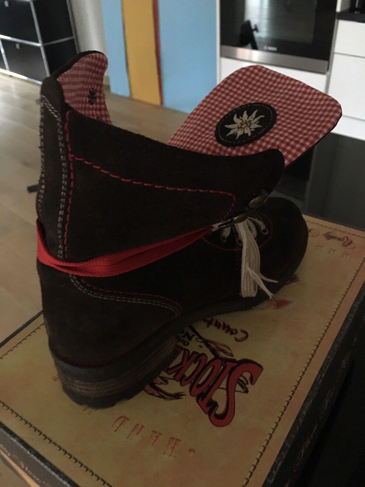 Neu Neu Neu  Stiefel Leder STOCKERPOINT braun Gr.36 Trachten dceb9d