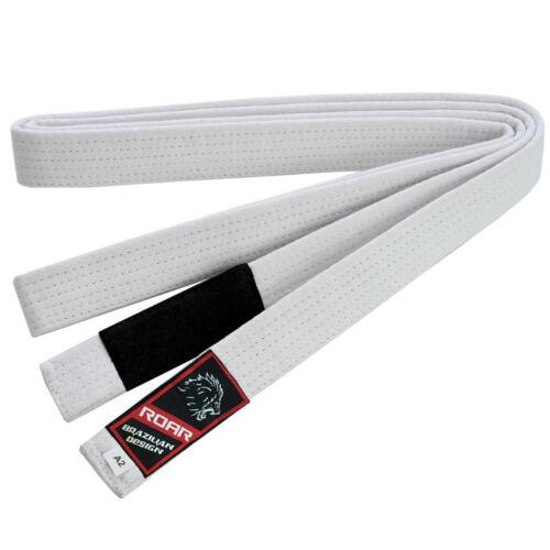 ROAR BJJ Gi Rank Belts Jiu Jitsu MMA Adult Gi Rank Belt A1 A2 A3 A4