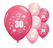 "20 x 30TH BIRTHDAY PINK MIX 12"" HELIUM OR AIRFILL BALLOONS (PA)"