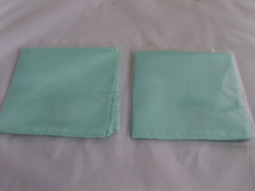 "Square P/&P 2UK/>/> 1st Class Mint Green Top Pocket Hankie 9/"" x 9/""= 23cm x 23cm"
