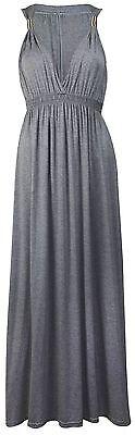 New Ladies Plus Size Gypsy Boho Ring Maxi Dress 8-22