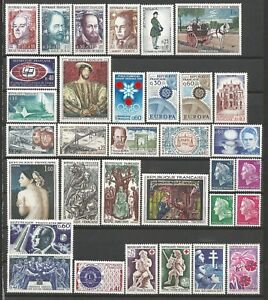FRANCE-Annee-1967-Complete-33-Timbres-neufs-luxe-MNH