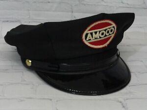 Vintage Amoco Service Gas Station Attendant Uniform Hat American Oil Company