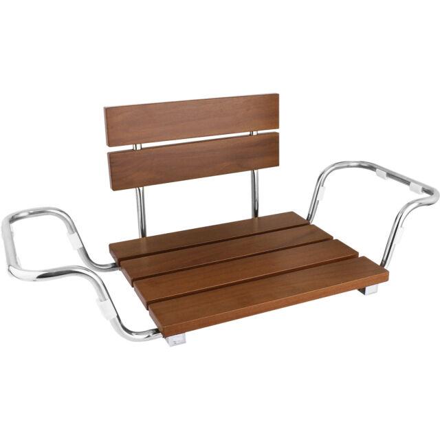 Clevr Adjustable Foldable Teak Wood Bathtub Seat Shower Bench Modern ...
