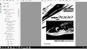 yamaha jet boat service manual ls2000 lst1200 1999 2003 service rh ebay com yamaha keyboard manual library yamaha motor manual library