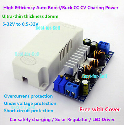 40W 6A DC Auto Step Up//Down Converter 5~32V to 0.5-32V 12V 19V Boost-Buck Module