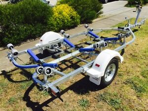 Precision-Boat-Trailer-5-2-mt-suit-14-16-ft-hulls-Galv-Braked-S520B