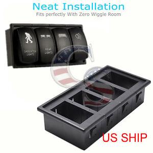 4PCS-Car-Rocker-Switch-Clip-Panel-Patrol-Holder-Housing-ARB-Carling-Style