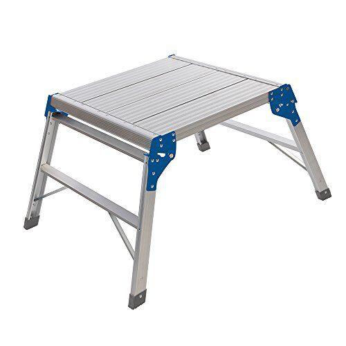 Silverline 600905 Quadratische Arbeitsplattform silber