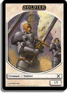 MTG 4x SOLDIER TOKEN 10th Edition *DEUTSCH GERMAN*