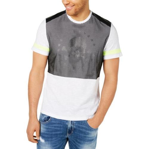 INC Mens Mission  Graphic Mesh Tee T-Shirt Top BHFO 8697