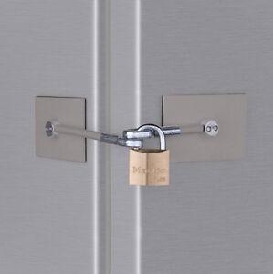 Marinelock Stainless Steel Refrigerator Door Lock Kit No