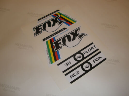 Fox World Champion Fork Decals stickers 32 RLC 36 TALAS 36 FLOAT 40 RC2 forx