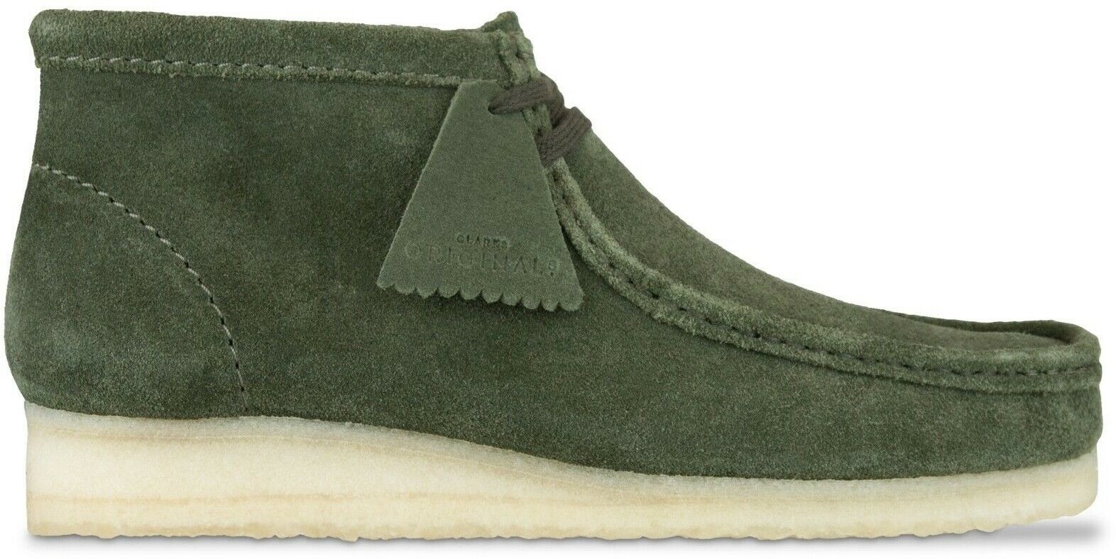 Clarks Originals Wallabee Boot Men's Olive Green Suede Casual shoes 26134754