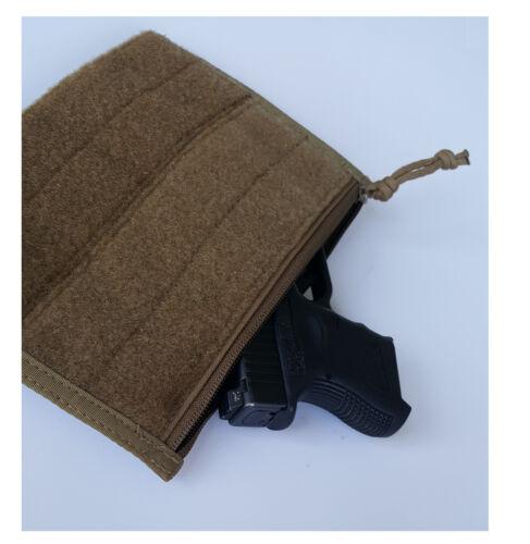 Hook /& Loop NEW Milspec Monkey MSM LARGE Patch Panel Admin Pouch Pocket