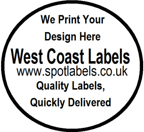 43mm Round White Sticky Labels,Personalised Free Shipping Labels & Tags