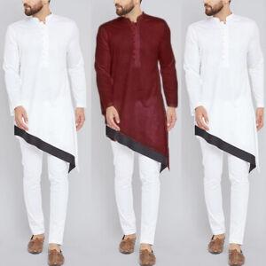 Men-Middle-East-Islamic-Clothing-Long-Sleeve-Saudi-Style-Arab-Kaftan-T-Shirt-Top