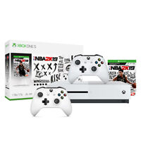 Microsoft Xbox One S 1TB NBA 2K19 Console Bundle + Wireless Controller