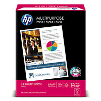 Hp Multipurpose Paper 96 Bright 20 Lb Letter White 2500 Sheets/carton 115100 on sale