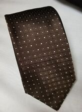 Zara Man Men's Necktie Mens 100% Silk Neck Tie Brown Made in Italy FREE SHIPPING