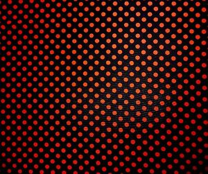 Black-Red-Polka-Dot-Spot-Polyester-Drapey-Fabric-Material-60-034-wide-1-75m-REMNANT