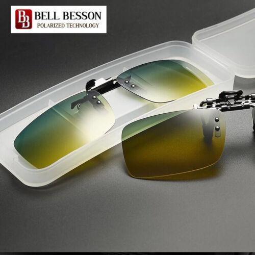 Polarised Clip On Flip Style Sunglasses UV400 Polarized Fishing Eyewear /& Case