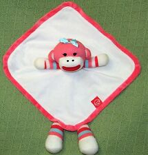 Baby Starters Plush Pink Sock Monkey Striped Rattle Striped Security Blanket