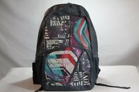 Roxy Girls Graphic Steel Gray Multi-color School / Book / Travel / Backpack