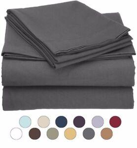 Twin Size Microfiber 3 Piece Bed Sheet Set - Fits Deep Pocket Mattresses