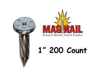 ChrisNik Mag Nail 1 Inch Survey Nail 200 Count
