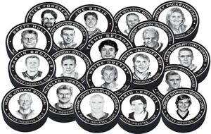 Hockey Hall of Fame Legends 3D Textured Pucks by Mustang - 19 Players Available