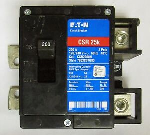 eaton cutler hammer csr2200n 2 pole 200 amp type ch csr main circuit rh ebay com