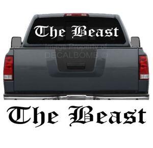 The-Beast-OE-Windshield-Decal-Sticker-diesel-turbo-truck-car-lift-low-45-034-x-7-034