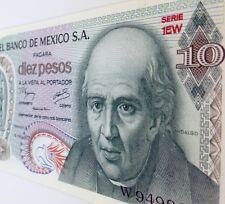 10 pesos El Banco De Mexico 1977 Bill Paper Money HIDALGO Uncirculated