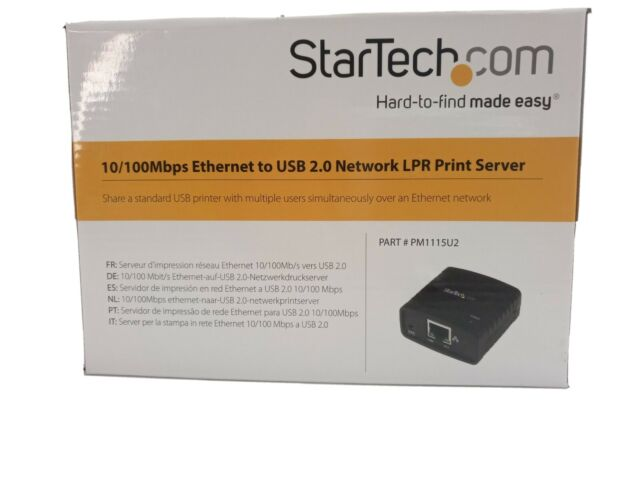 StarTech 10/100 Mbps Ethernet to USB 2.0 Network LPR Print Server Adapter