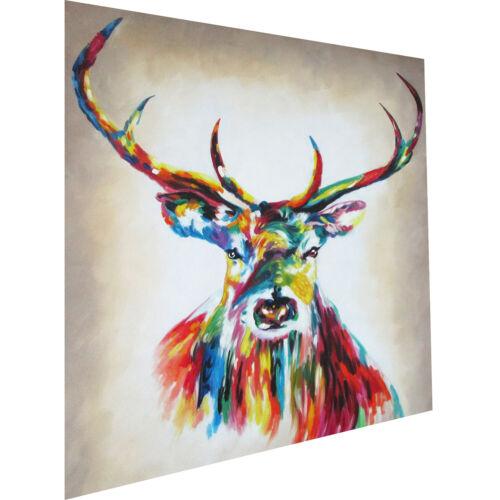 Painting Art stag deer moose Print Canvas framed  Street rainbow copyright