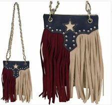 Texas Flag Western Mini Messenger Cross Body Waist Purse Chain Wallet Should Bag