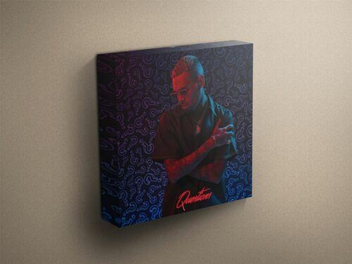 "Chris Brown /""Questions/"" Cover Art Canvas Art Print #012444"