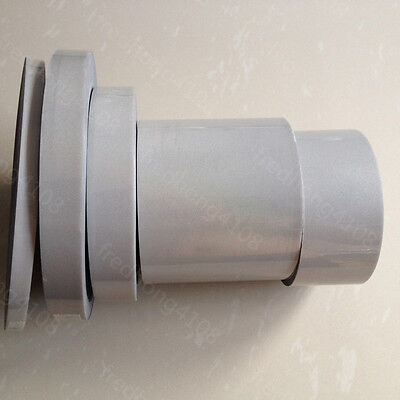"""DIY Silver Elastic Reflective Warning Tape Iron On Width 1/"""" for Clothes Pants !"""