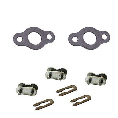 3 Chain Master Link 1 Set Gasket Fit 49//66//80cc 2 Stroke Engine Motorized Bike.
