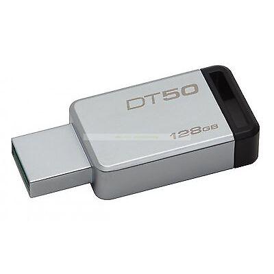 Kingston USB 128GB DataTraveler50 DT50 USB3.1 110MB/s Leer 15MB/s Escribir ct ES