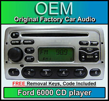 Ford Transit CD player, Silver Ford 6000 car stereo + radio removal keys & code