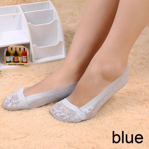 Frauen-Spitze Hausschuhe  Antiskid Invisible Liner Peds Low Cut Socken
