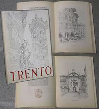 libro TRENTO 40 tavole Iras BALDESSARI commento Aldo Ducati monumenti Trentino