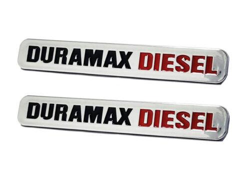 2 Pcs Silverado 2500 HD Duramax Diesel Emblem 3D Trunk Badges High Quality