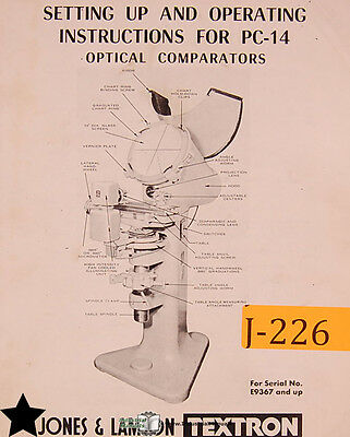 Micro-vu m14 optical comparator instruction manual, industrial library.