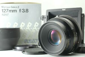 Nuovo-di-zecca-con-scatola-Mamiya-Sekor-Z-127mm-f-3-8-Lente-per-RZ67-con-Cappuccio-Pro-II-GIAPPONE