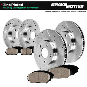 Front+Rear Drill Slot Brake Rotors /& Ceramic Pads Kit For Forester XV Crosstrek