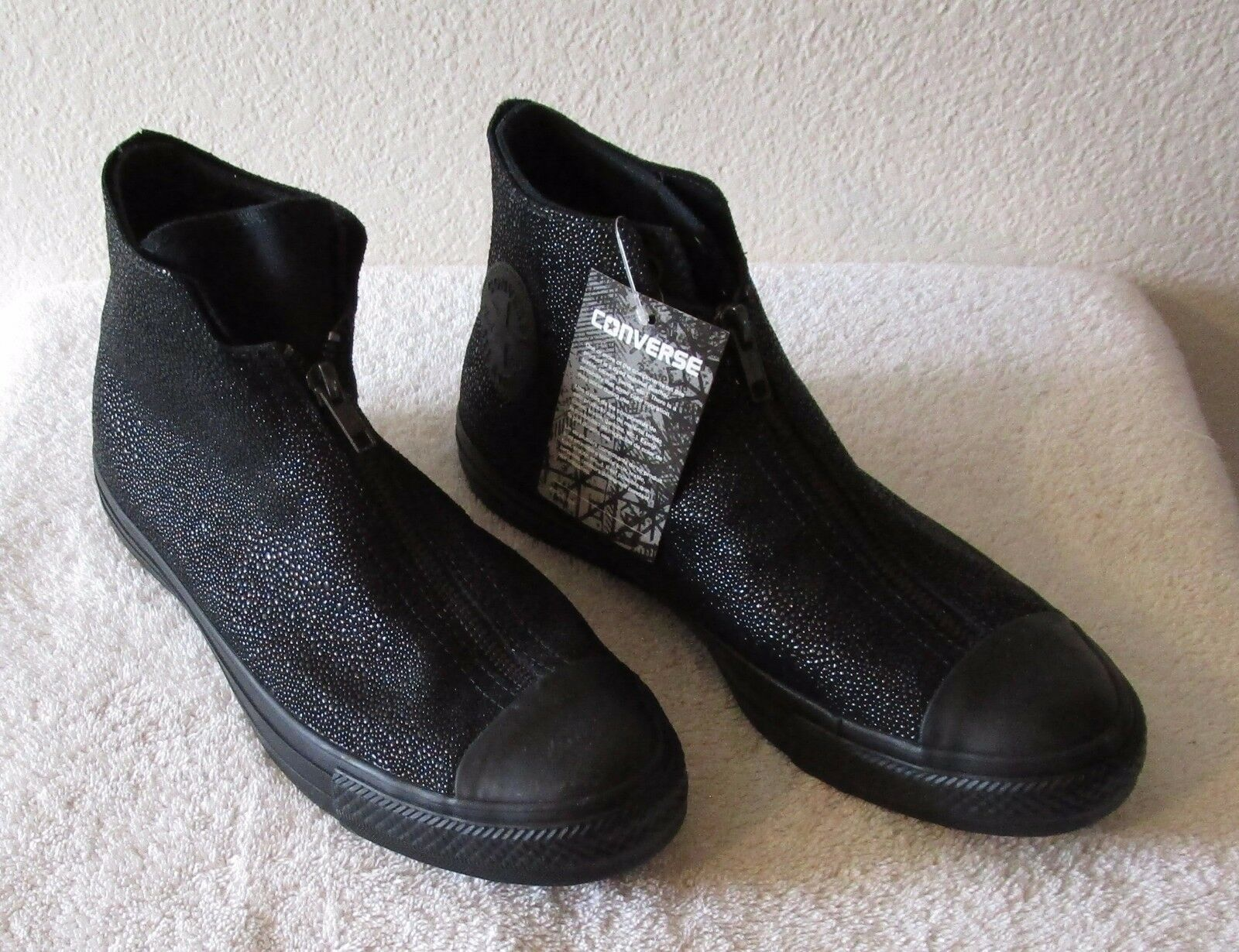 NWT Converse Womens CT Ray All Star Shroud Sting Ray CT Leather Shoes Black MSRP$120 015915